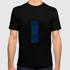 Doctor who tardis SMALL Black Mens Fitted Tee