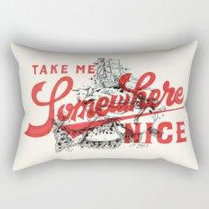 Take Me Somewhere Nice Rectangular Pillow