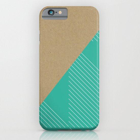 Cardboard & Aqua Stripes iPhone & iPod Case