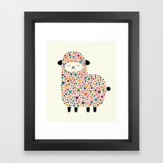 Bubble Sheep Framed Art Print