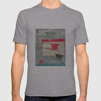 Blue Heron Collage Mens Fitted Tee Athletic Grey SMALL