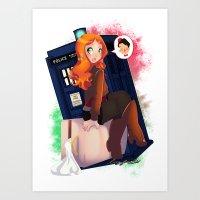 Doctor Who - Amy Pond Art Print