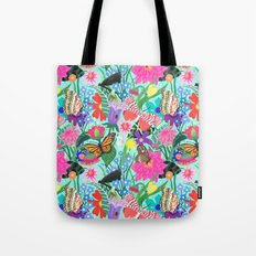 Butterflies and Moths Pattern - Blue Tote Bag