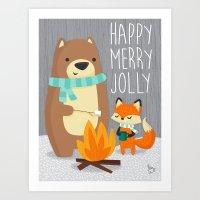 Happy Merry Jolly Art Print