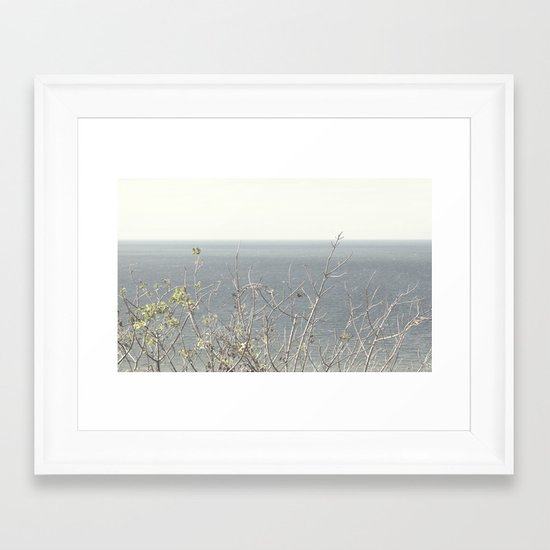 Branches at the sea Framed Art Print