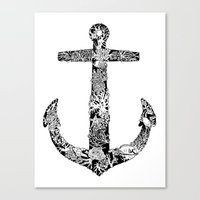 Anchor And Reef Canvas Print