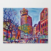 Harbour Centre From Gast… Canvas Print