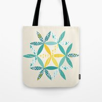 Tote Bag featuring Patchwork Sunshine by Wild Notions