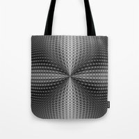 Circular Pinch in Monochrome Tote Bag