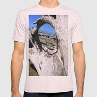 Window to the Sea Mens Fitted Tee Light Pink SMALL