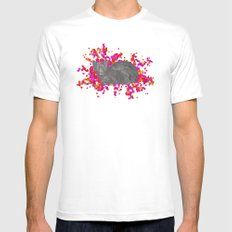 Cat's Meow SMALL White Mens Fitted Tee
