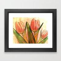 Tulips red Framed Art Print