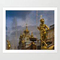 Peterhof palace Art Print