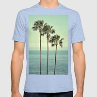 Three Day Weekend Mens Fitted Tee Tri-Blue SMALL