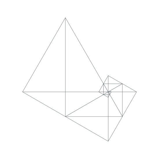 #449 Archimedes' turbine – Geometry Daily Art Print