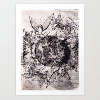sovrapposizioni Art Print