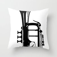 TestTrumpet Throw Pillow