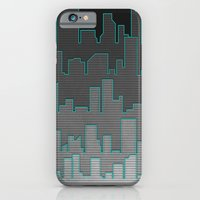 iPhone & iPod Case featuring The Turquoise Outline by Logan Schraeder