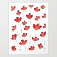 Poppy Flowers 2 Art Print