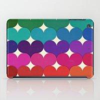 Rainbow Hearts iPad Case