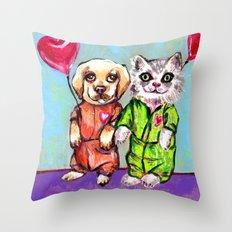 Tiny Pajama Party Throw Pillow