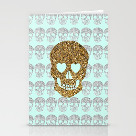 skulls & heartz;; Stationery Card