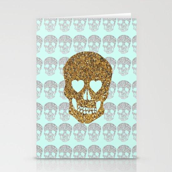 skulls & heartz;; Stationery Card