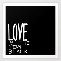Back To Black Art Print