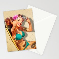 Beach Pin-up Stationery Cards