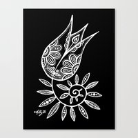 White Flower 131 Canvas Print