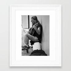 Homeless in St. Augustine Framed Art Print