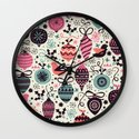 Birds and Baubles  Wall Clock