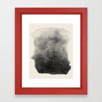 Four / Cream Framed Art Print