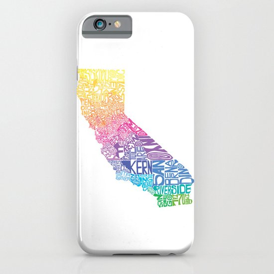 Typographic California - Springtime iPhone & iPod Case