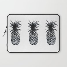 Black and White Pineapple Laptop Sleeve