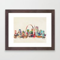St Louis Missouri Framed Art Print