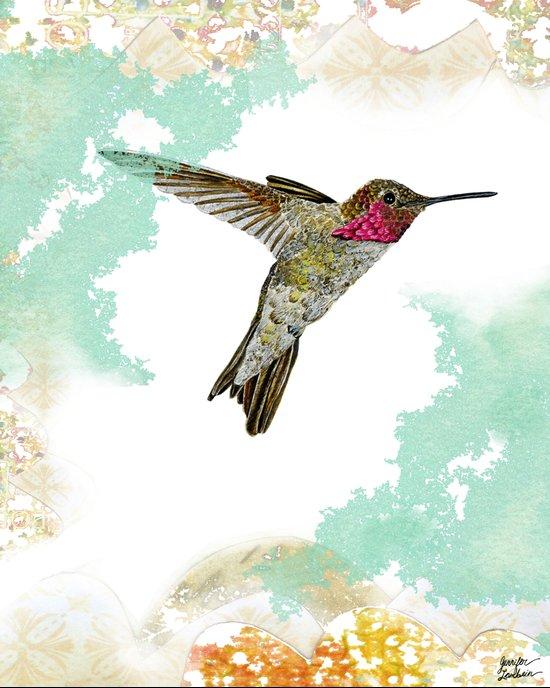 Hummingbird Ayre Serene Dream Art Print