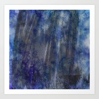 Black and Blue and Paint All Over Art Print