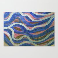 Drifting Blue And Cream Canvas Print