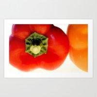 Red Pepper..Yellow Pepper....Red Pepper...Yellow Pepper Art Print