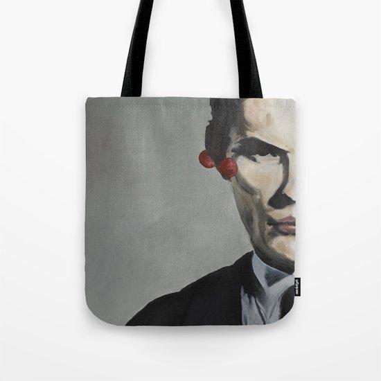 man with cherries Tote Bag