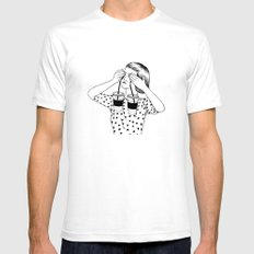 Two Cups Of Tears Mens Fitted Tee White SMALL