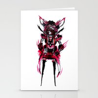 red black 01 Stationery Cards