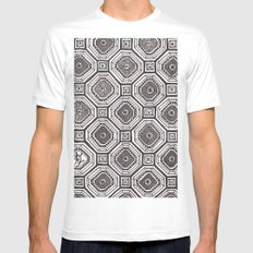 Textile 8 Mens Fitted Tee White SMALL