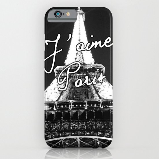 j'aime paris france eiffel tower iphone case
