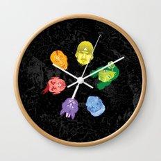 Colorheads Wall Clock