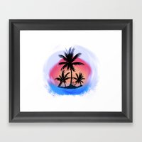 Surfapimp Island Framed Art Print