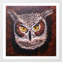 Night Owl... Art Print