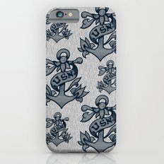 USN Anchor American Traditional Tattoo Design (Blue) iPhone 6s Slim Case