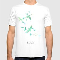 Birds of the arctic Mens Fitted Tee White SMALL